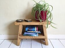 Solid Timber Rustic Handmade  Bedside Table / Foot Stool