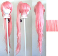 40'' Wavy Pony Tail + Base Cotton Candy Pink Cosplay Wig NEW