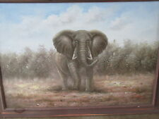 "OIL Painting- ELEPHANT New/Stretched--24""x36"""
