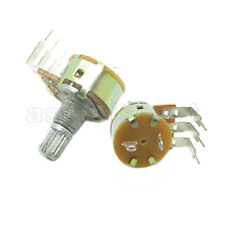 10x 10K Linear 1/4W Rotary Potentiometer Single Turn B10K Pot With Switch OFF ON