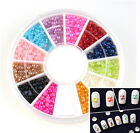 1800pcs/Wheel 2mm Half Round Pearl Rhinestone 12 Colors 3D Nail Art Decoration