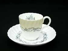 MINTON CHINA - ARDMORE IVORY - DEMITASSE CUP & SAUCER - ENGLAND - LOVELY
