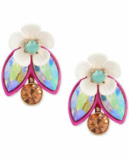 Betsey Johnson Gold-Tone Multi-Stone Garden Motif Ear Jacket Earring 2 Way
