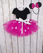 Flower Girl Toddler Minnie Mouse Party Costume Ballet Tutu Dress +Headband 2T