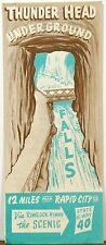 1950's Thunder Head Underground Water Falls Rapid City South Dakota brochure b