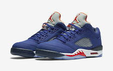 "NIKE AIR JORDAN V (5) RETRO LOW ""NY KNICKS EDI""..SIZE MEN 6.5/ or WOMEN 8"