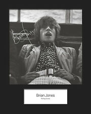 BRIAN JONES #3 (Rolling Stones) Signed 10x8 Mounted Photo Print - FREE DELIVERY