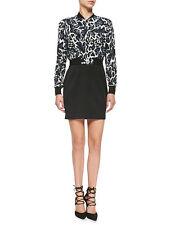Black Halo Gabe Mini Dress W/ Leopard-Print Top 4