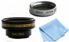 30mm Wide Angle Lens + Macro + CPL Filter for For Sony Handycam DCR-SR68,DCR-DVD