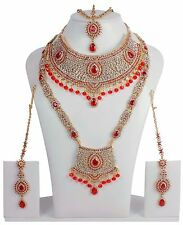 Indian Bollywood Style Earrings Fashion Gold Plated Bridal Jewelry Necklace 4030