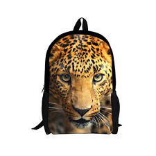 Women Mens Boys Cat Horse Dog Print Backpack Bag College School Travel Rucksack