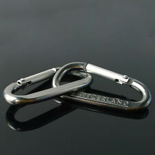 Carabiner D-Ring Camp Snap Clip Hook Buckle Keychain Keyring Hiking Climbing k8