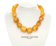 Genuine Butterscotch Baltic Amber Bead Necklace 85 grams - A0142 RRP£4500