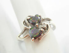 Genuine Sterling Silver Heart Shaped Mystic Topaz Ring Sz 9.5 #2169