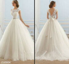 Lace Princess Ball Gown Wedding Dress A-Line Floor Length Bridal Gown 2017