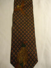 Nautica Silk Tie Blue White Polka-Dot Checker Design 56.5""