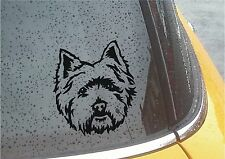 WESTIE WEST HIGHLAND TERRIER STICKER VINYL DECAL CAR VAN CAMPER LAPTOP DIY