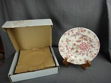 Lot of 4 Johnson Brothers Rose Chintz PINK Salad Plates ~NEW IN BOX~