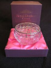 VINTAGE ROYAL DOULTON GLASS CRYSTAL 'WOLLASTON' ROSE BOWL MINT & BOXED