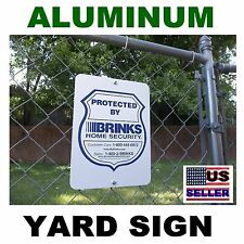 LARGE METAL 9x12 Brinks ADT home security alarm system burglar warning yard sign