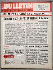 FILM FRANCAIS Cinématographie Française BULLETIN FESTIVAL DE CANNES 1971*