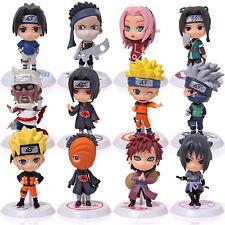 """12Pcs Anime Naruto Shippuden Akatsuki Kakashi Uzumaki SASUKE Itachi Figure 3""""-5"""""""