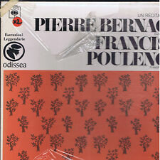 FRANCIS POULENC Pierre Bernac Satie Ravel Debussy etc - 2 LP box ODISSEA sealed