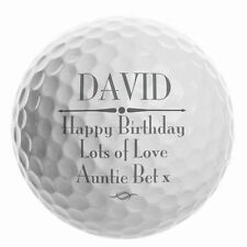 Personalised Golf Ball Keepsake Gift For Men Lover Him Birthday Fathers Day Dad