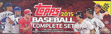 2015 TOPPS Complete Baseball Card Hobby FACTORY SEALED SET Series 1 2 Parallels
