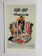 CARTE POSTALE JAMES BOND DE L'AFFICHE LIVE AND LET DIE POSTCARD POSTKARTE 007