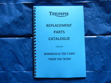 TRIUMPH T140V/TR7RV PARTS BOOK FOR 1973  MODELS