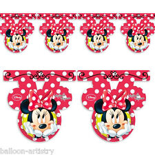 2.5m Disney Minnie Mouse Classic Red Polka Dots Party Flag Banner Bunting
