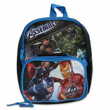 "Backpack 11"" + Detachable Lunch Bag Avengers Hulk Captain America Iron Man Thor"