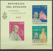ECUADOR Scott# 752Bc ** MNH Imperfored Souvenir Sheet Pope Paul VI