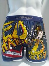 Ed Hardy Men's Navy Eagle Print  Boxer Briefs Size Small New