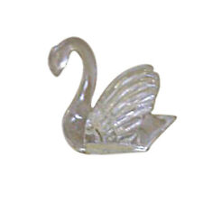 "12 clear plastic mini swans 1.5"" x1.5"" wedding  favors"