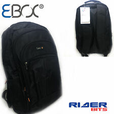 "LAPTOP BAG BLACK 15.6"" BACKPACK RUCKSACK WATERPROOF COMPUTER TRAVEL LUGGAGE FL3"