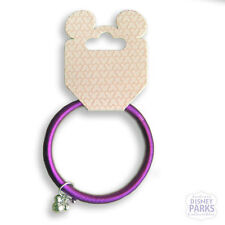 DISNEY PARKS Purple Metal Spring Bracelet Silver Mickey Mouse Head Jewelery
