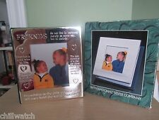 "NIB INTERNATIONAL SILVER COMPANY SILVERPLATED ""FRIENDS"" PHOTO FRAME ALBUM"