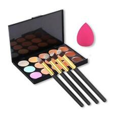Hot 15 Colors Contour Concealer Palette + 4pcs Powder Brushes + Sponge Blender