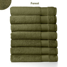 "Sferra Bello  Forest Green Bath Sheet Towel Solid 100% Combed Cotton 40""X70"" NEW"