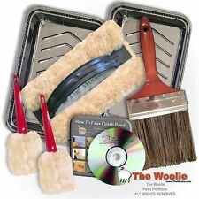 THE WOOLIE ORIGINAL OFFICIAL FAUX FINISH PAINTING KIT - 100% NATURAL SHEEPSKIN P