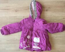 Gorgeous Girls Hooded Coat/ Jacket, Purple With White Polka Dots, 1 1/2 -2 Years
