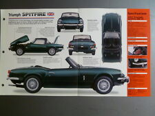 "1962 - 1980 Triumph Spitfire IMP ""Hot Cars"" Spec Sheet, Folder 3-48 Awesome L@@K"