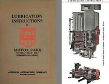 Apperson 1926 - Lubrication Instructions for Apperson Motor Cars (Super Value 6