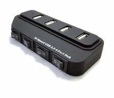 HUB SDOPPIATORE 4 PORTE USB 2.0 CIABATTA ALIMENTATO CON INTERRUTTORI SEPARATI PC