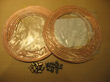 COPPER BRAKE PIPE SEAMLESS 2 X 25FT OF 3/16 OR 4.76MM + 10 FEMALE NUTS+10 MALE