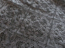Black Vintage Cluny Lace Cotton Fabric Dress Fashion Couture Vogue Trench Coat