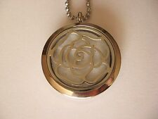 Stainless Steel Rose Flower Aromatherapy Essential Oil Diffuser Locket Necklace
