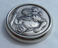 Car Interior Plaque St Christopher Magnetic Badge 45mm diameter BRAND NEW